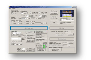 GUI control screen for BERT mode
