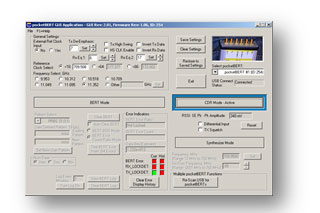 GUI control screen for CDR mode